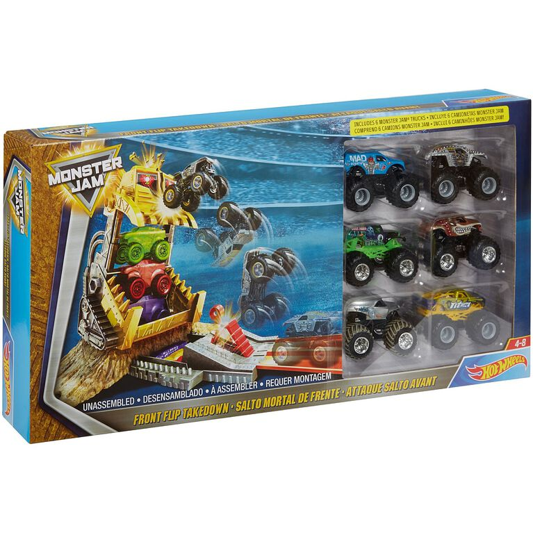 Hot Wheels - Monster Jam Front Flip Takedown 6 Vehicle Playset - R Exclusive