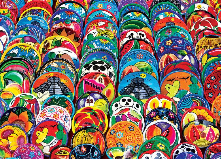 EuroGraphics Mexican Ceramic Plates 1000-Piece Puzzle