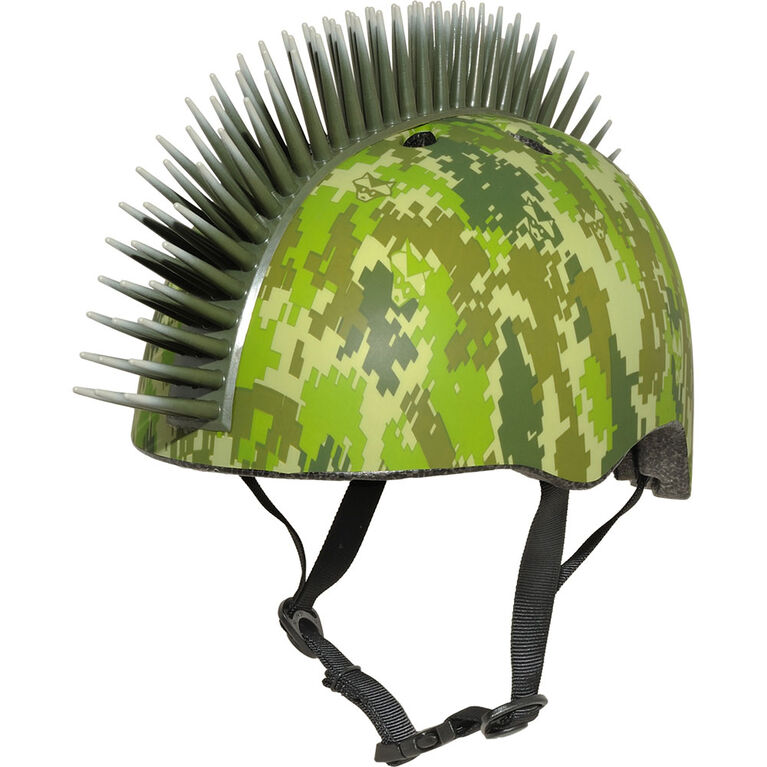 Raskullz - Digital Camo Mohawk Child 5+ Bike Helmet - Green