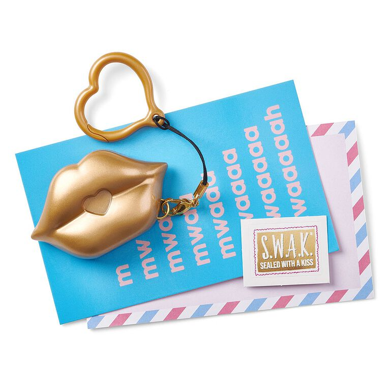 S.W.A.K. - Interactive Kissable Key Chain - Gold Kiss - By WowWee