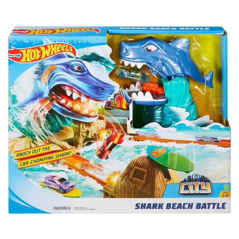Hot Wheels Ciity - Coffret de jeu L'Attaque Du Requin