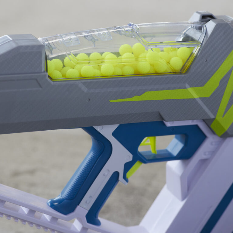 Nerf Hyper, blaster motorisé Mach-100, inclut 80 billes en mousse Nerf Hyper