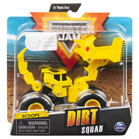 Monster Jam, Official Scoopz Dirt Squad Scooper Monster Truck with Moving Parts, 1:64 Scale Die-Cast Vehicle