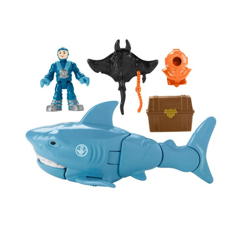 Fisher-Price - Imaginext - Requin et trésor englouti