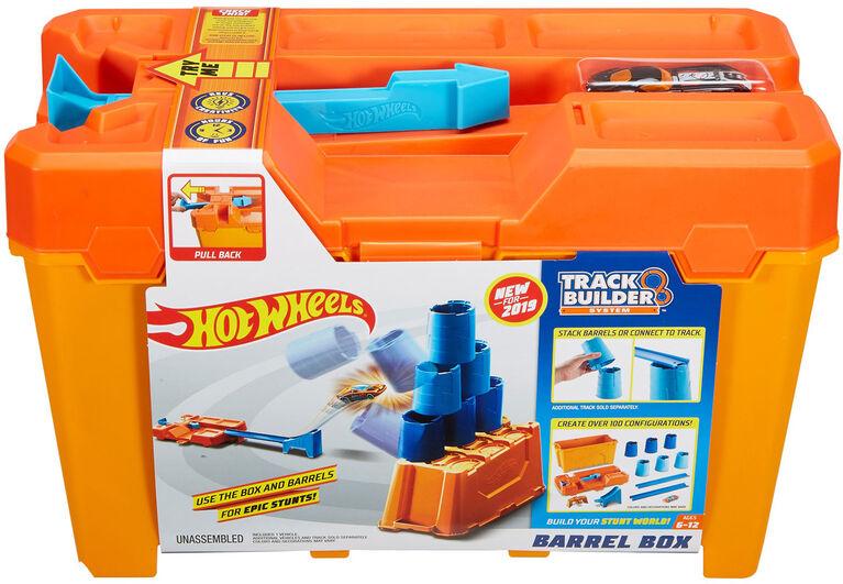 Hot Wheels Track Builder Barrel Box - English Edition