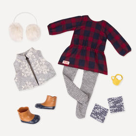 Our Generation, Cocoa Cozy, Holiday Dress Outfit for 18-inch Dolls