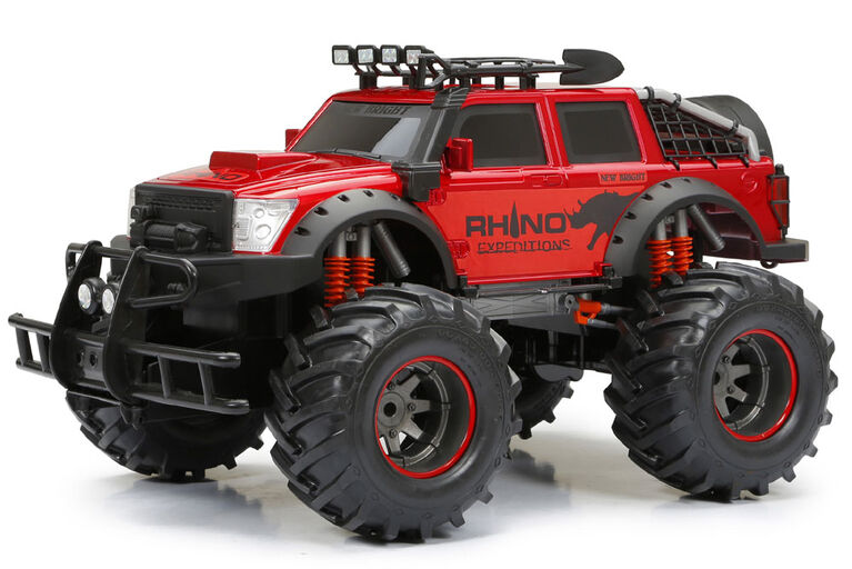4X4 Rhino radiocommandé New Bright, - Rouge.