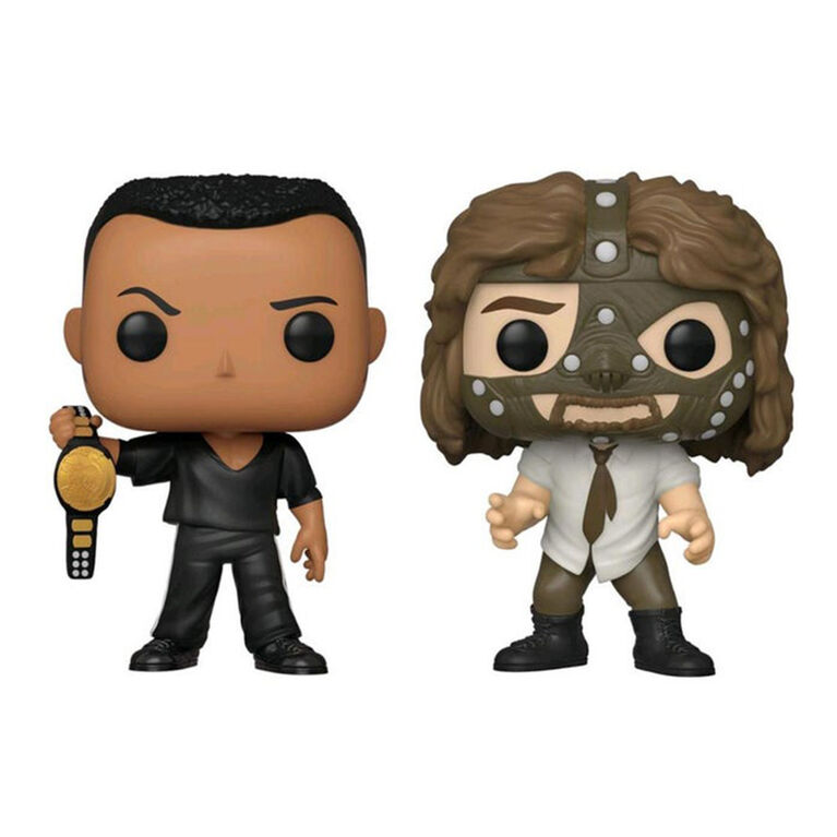 Funko POP! WWE: The Rock vs. Mankind (2 Pack) - R Exclusive