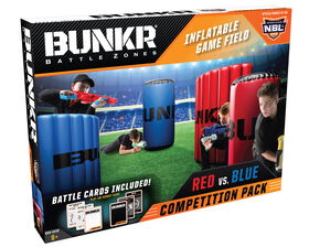 BUNKR Battlezones - Competition Pack - Red vs Blue - Inflatable Game Field - 4 Piece Set