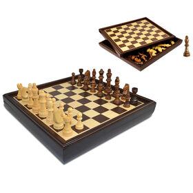 Craftsman Natural Wood Veneer Deluxe Chess