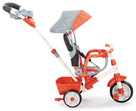 Little Tikes - Tricycle 5 en 1 Deluxe Ride & Relax (inclinable) - rouge et gris