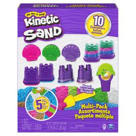 Kinetic Sand, Coffret avec 5 types de Kinetic Sand, 10 récipients et outil bonus - Notre exclusivité