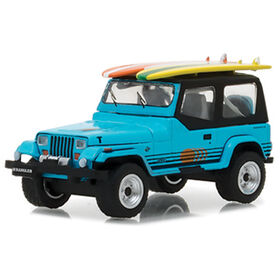 1:64 The Hobby Shop Series 2 - 1987 Jeep Wrangler YJ with Surfboard