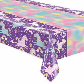 "Unicorn Plastic table cover 54""x84"""