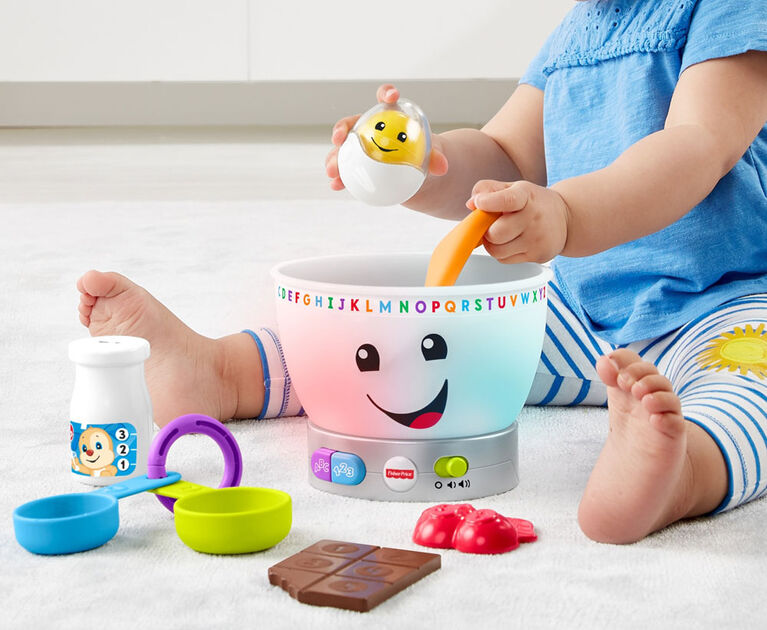 Fisher-Price Laugh & Learn Magic Color Mixing Bowl - Bilingual Edition