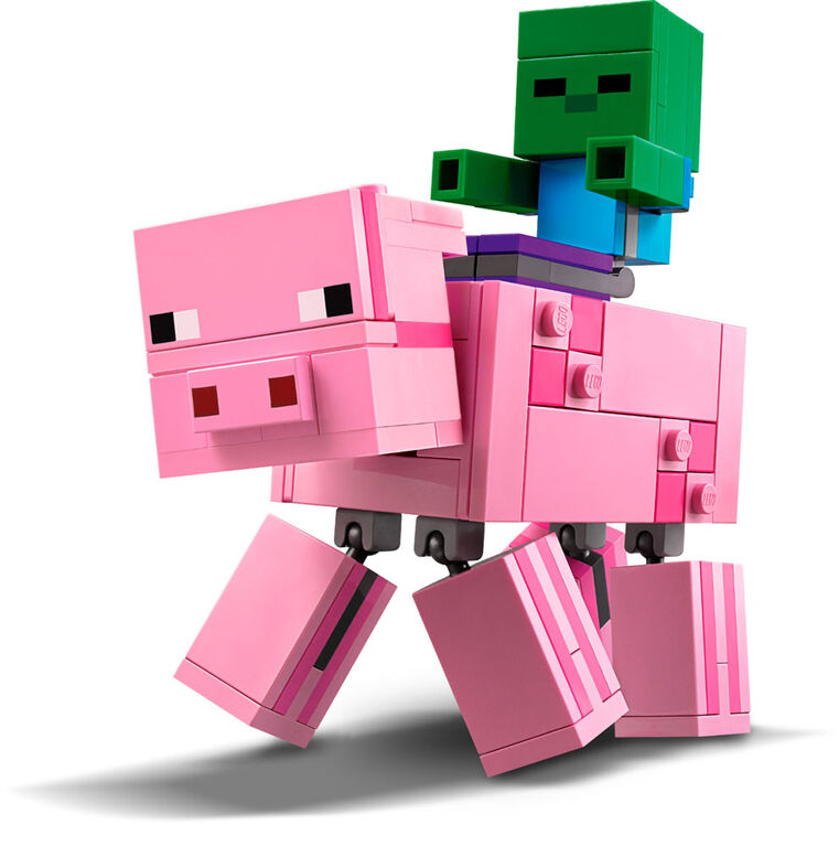 LEGO Minecraft BigFig Pig with Baby Zombie 21157