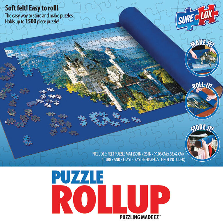 "Sure Lox - Puzzle Roll Up- Blue - 39""x23"""