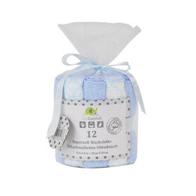 KidiComfort Washcloths - 12 Pack - Blue