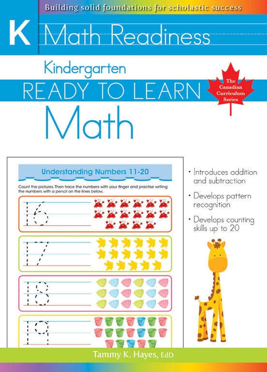 Kindergarten - Ready To Learn Math - Édition anglaise