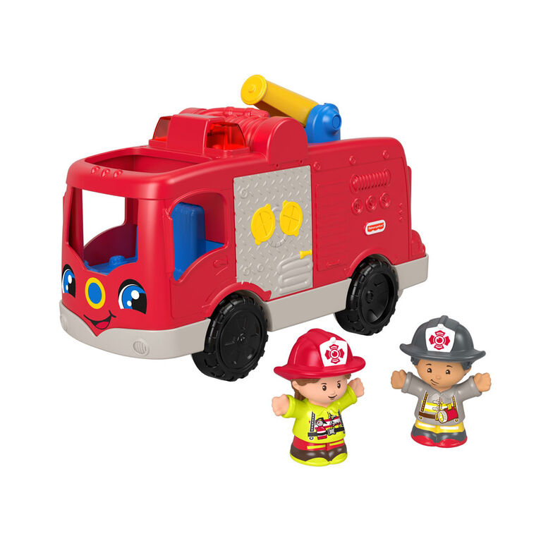 Fisher-Price - Little People - Camion des pompiers serviables – Édition anglaise