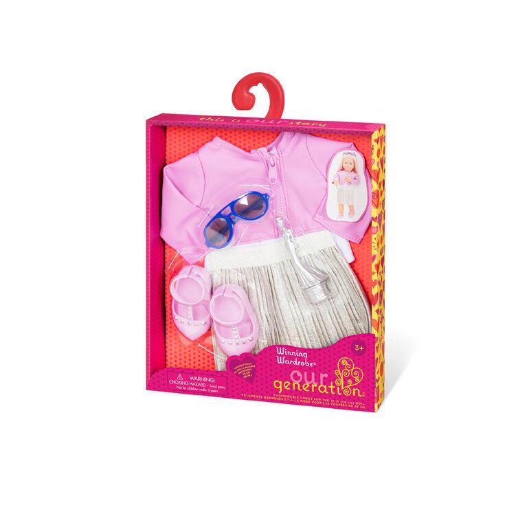 Winning Wardrobe, Our Generation, Tenue d'actrice pour poupées de 18po