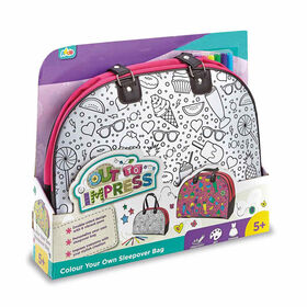 Out To Impress Colour Your Own Sleepover Bag - English Edition