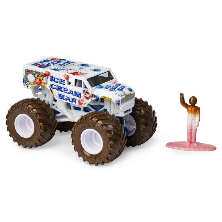Monster Jam, Monster truck authentique Ice Cream Man en métal moulé à l'échelle 1:64, série Arena Favorites