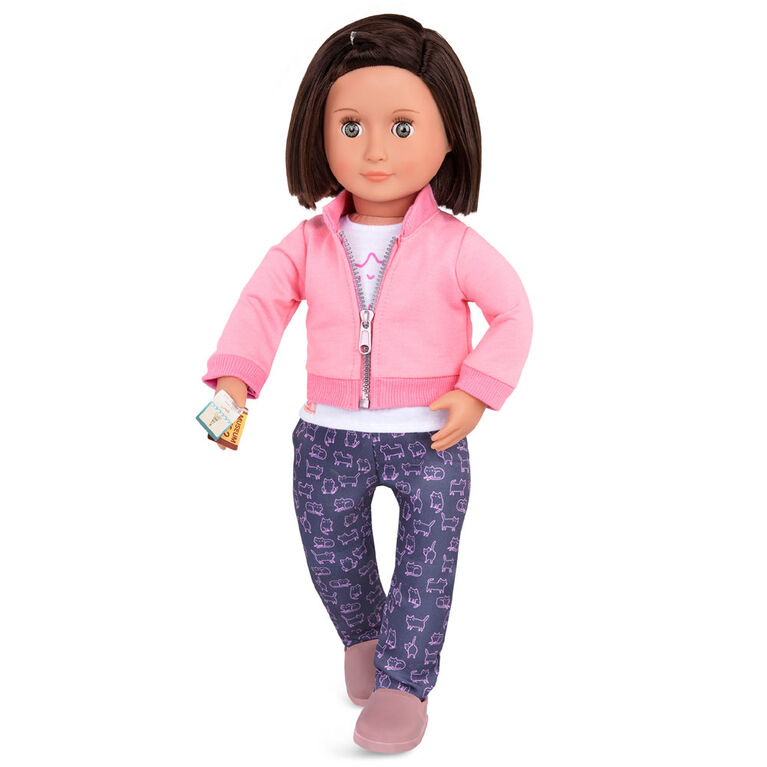 Our Generation, Meow On The Move, Travel Outfit with Luggage for 18-inch Dolls