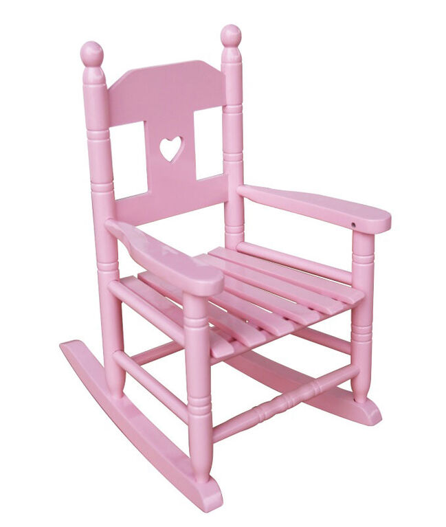 Kid's Rocking Chair - Pink with Heart