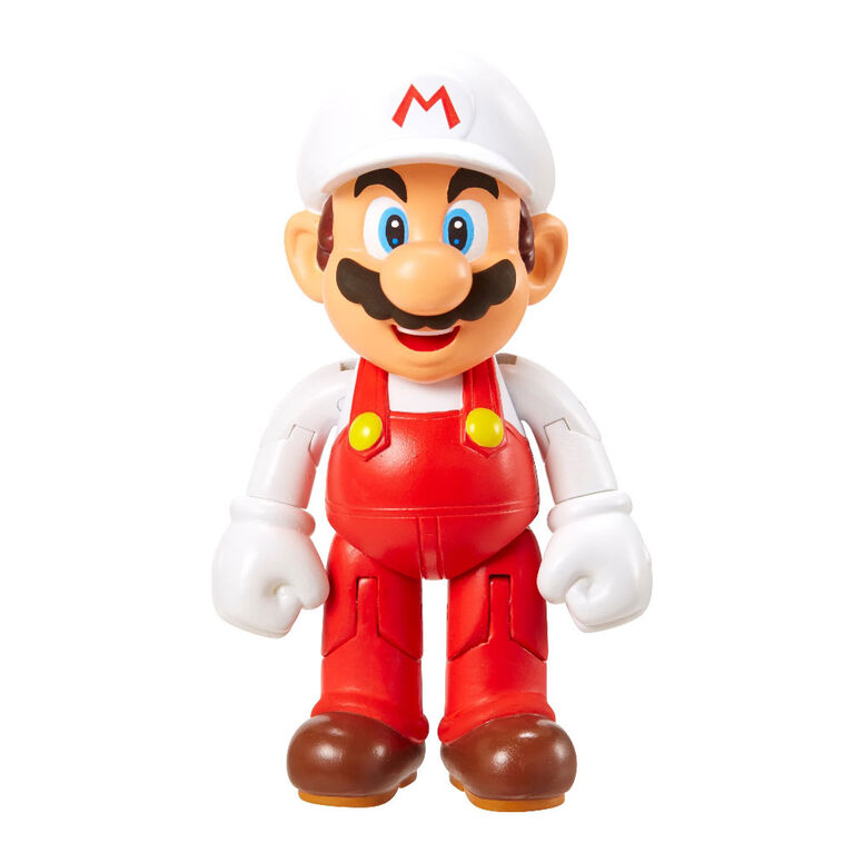 "World of Nintendo 4"" Figures - Mario W/Fire Flower"