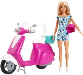 Barbie - Poupée et Scooter. - Notre Exclusivité