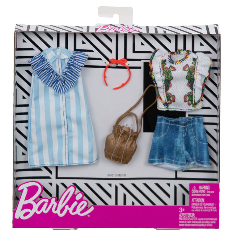 Barbie Fashions Floral Pinstripes 2-Pack