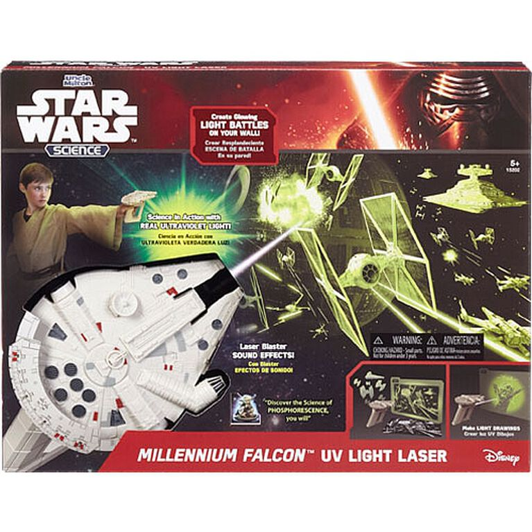 Uncle Milton Star Wars Millennium Falcon Uv Light Laser