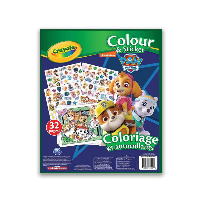 Livre à colorier et autocollants Crayola, La Pat'Patrouille