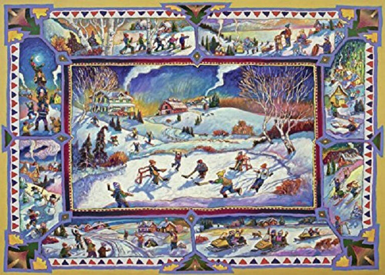 Ravensburger! John Burrow - Canadian Winter Jigsaw Puzzle - 1000 Piece
