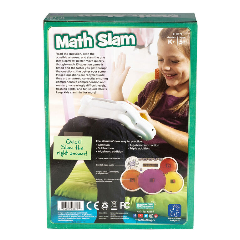 Educational Insights - Math Slam - English Edition - styles may vary