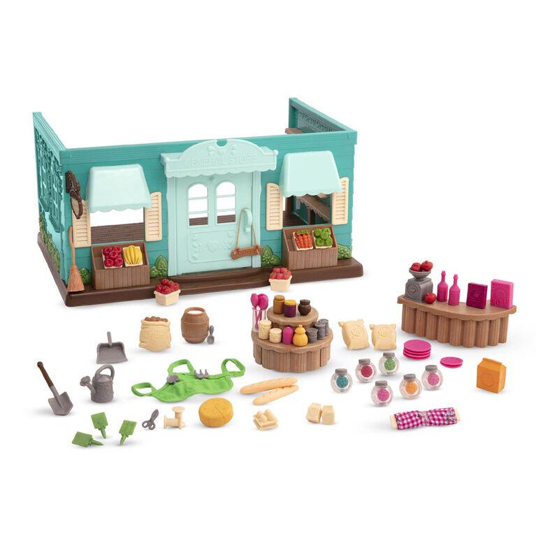 Honeysuckle Hollow, Magasin Général, Li'l Woodzeez, Magasin avec aliments-jouets - les motifs peuvent varier
