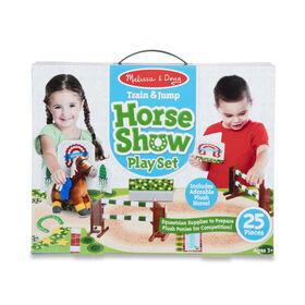 Melissa & Doug - Ensemble spectacle de train et de saut à cheval - Peluche