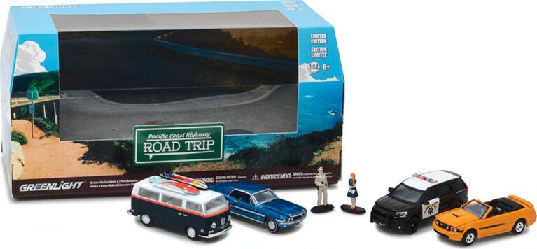 Greenlight - 1:64 Multi-Car Dioramas - Pacific Coast Highway Road Trip