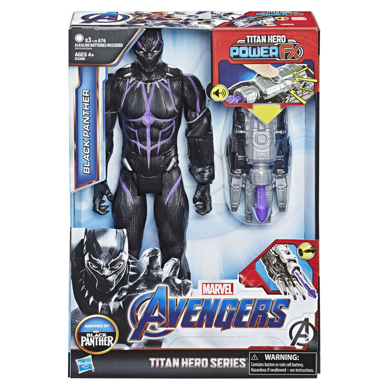 Marvel Avengers : Phase finale Titan Hero Power FX - Figurine Black Panther.