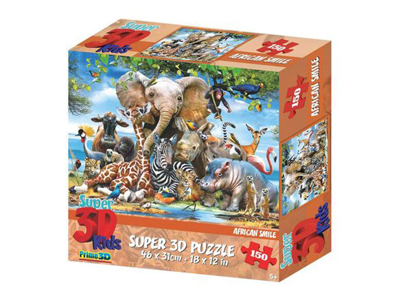 Howard Robinson - African Smile150Piece Super 3D Puzzle