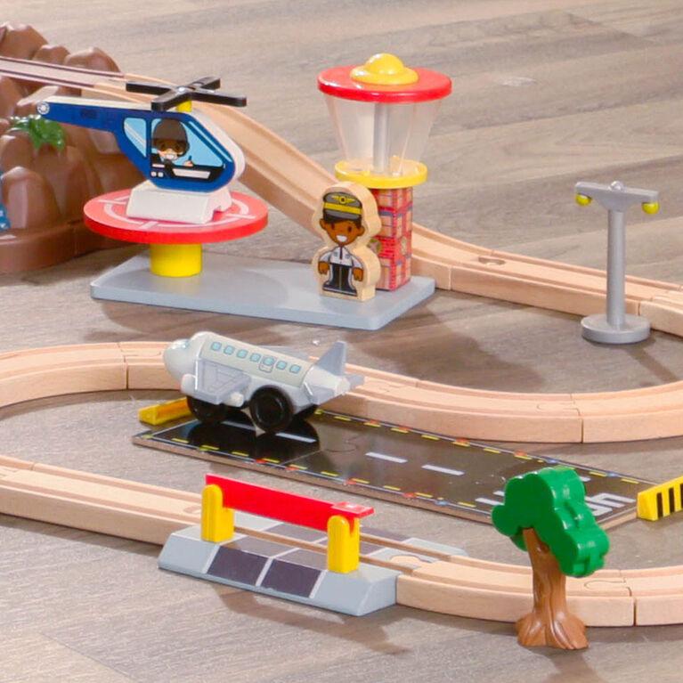 KidKraft - Ensemble Train en bois Bucket Mountain