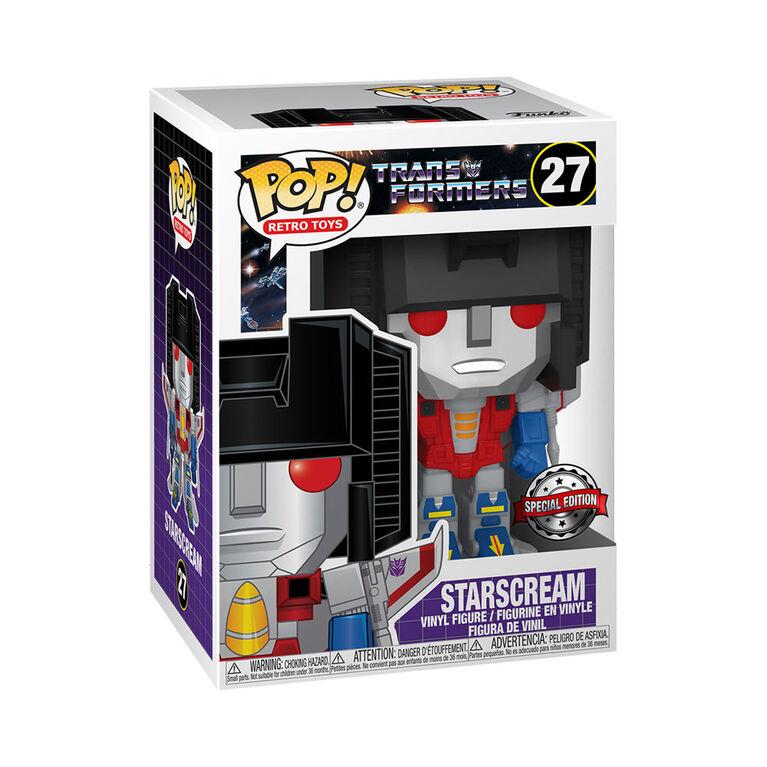Figurine en Vinyle Starscream par Funko POP! Transformers - Notre Exclusivité