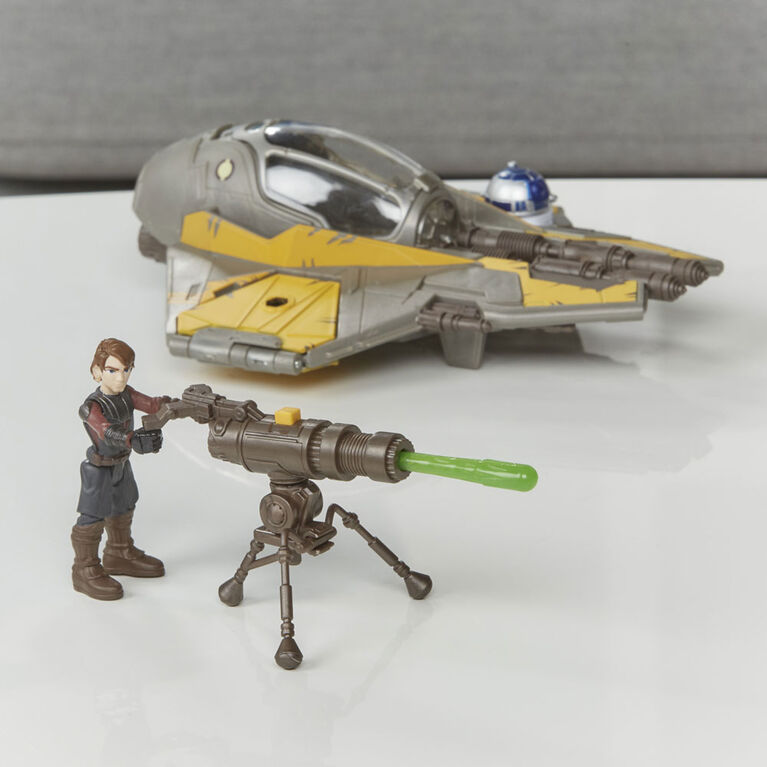 Star Wars Mission Fleet Stellar Class Anakin Skywalker Jedi Starfighter 2.5-Inch-Scale Figure and Vehicle