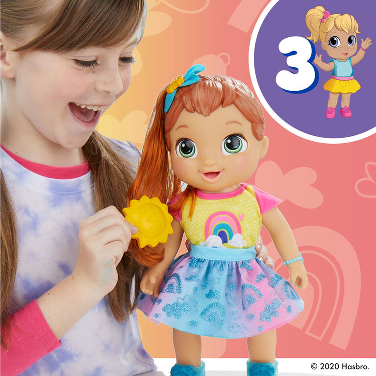 Baby Alive Baby Grows Up - Happy Hope, Growing and Talking Baby Doll Toy with Surprise Accessories