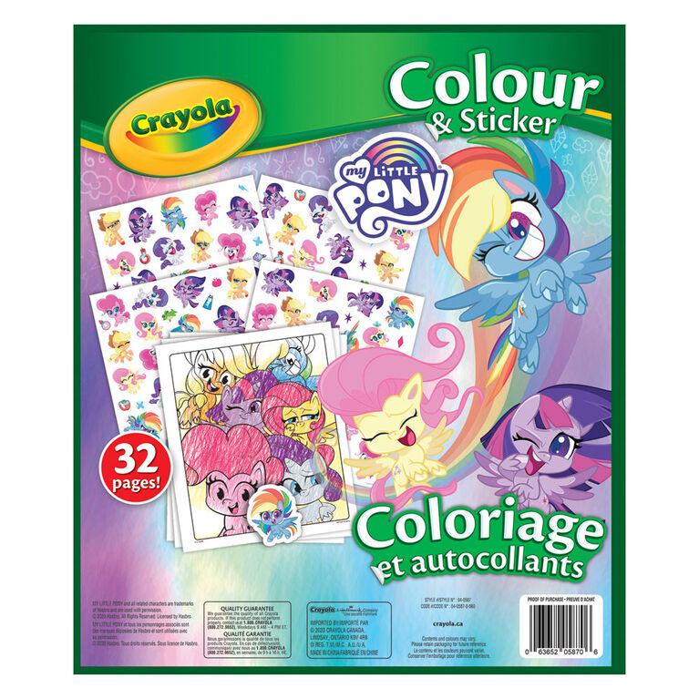 Livre à colorier et autocollants Crayola, mon petit poney