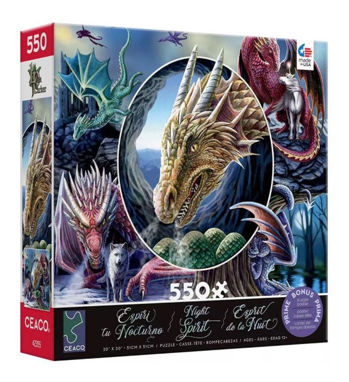 Ceaco Lisa Parker Night Spirit 550 pièces Puzzle Dragon Montage