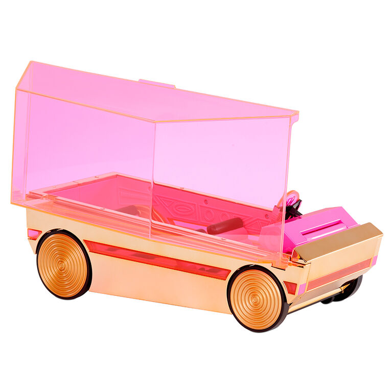 LOL Surprise 3-in-1 Party Cruiser Car with Surprise Pool, Dance Floor and Magic Black Lights, Multicolor - Great Gift for Girls Age 4+