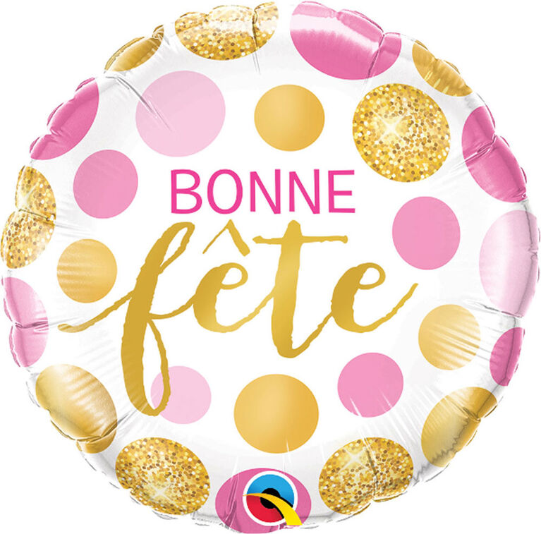 "Qualatex Bonne Fete 18"" Foil Balloon"