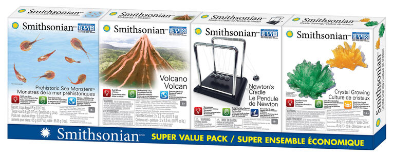 Smithsonian 4 Pack Micro Science Kits